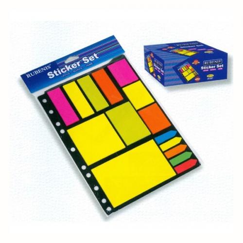 Rubenis Yapışkanlı Not Kağıdı Karışık Renk RPS-25