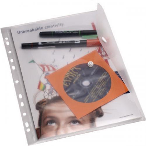 Serve Çıtçıtlı Dosya Klasöre Takılabilir A4 Şeffaf SV6008