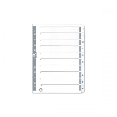 Serve Seperatör 1-10 Rakamlı Kağıt A4 SV5324