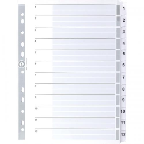 Serve Seperatör 1-12 Rakamlı Kağıt A4 SV5325