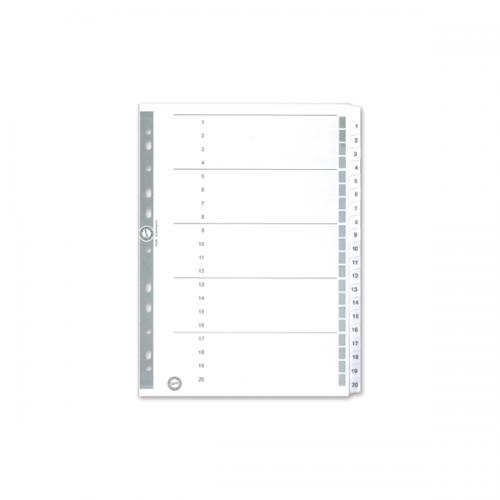Serve Seperatör 1-20 Rakamlı Kağıt A4 SV5326
