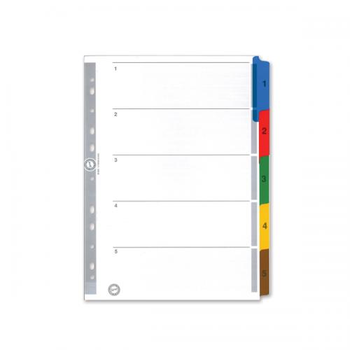Serve Seperatör 1-5 Rakamlı Renkli Kağıt A4 SV5523K