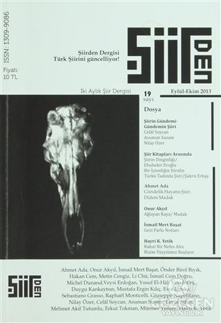 Şiirden İki Aylık Şiir Dergisi Sayı: 19