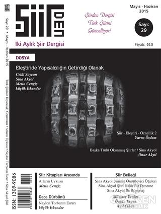 Şiirden İki Aylık Şiir Dergisi Sayı: 29
