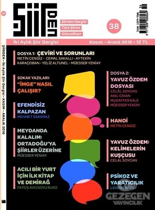 Şiirden İki Aylık Şiir Dergisi Sayı: 38 Kasım-Aralık 2016
