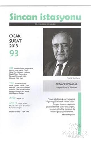 Sincan İstasyonu Edebiyat Dergisi Sayı: 93 Ocak - Şubat 2018