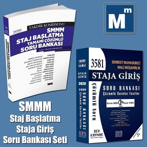SMMM Staj Başlatma Soru Bankası Seti Savaş Yayınları ve Derin Yayınları 2020