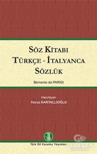 Söz Kitabı Türkçe - İtalyanca Sözlük
