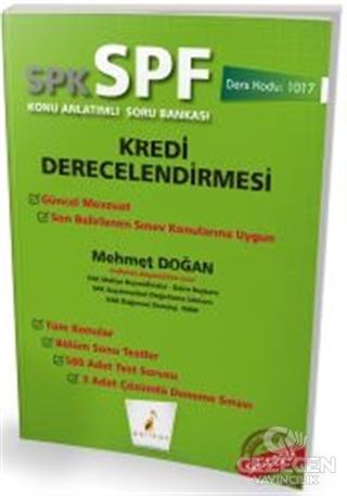 SPK - SPF Kredi Derecelendirmesi Konu Anlatımlı Soru Bankası