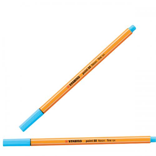 Stabilo Keçe Uçlu İnce Kalem 88 Point 0.4 MM Fosforlu Mavi 88/031