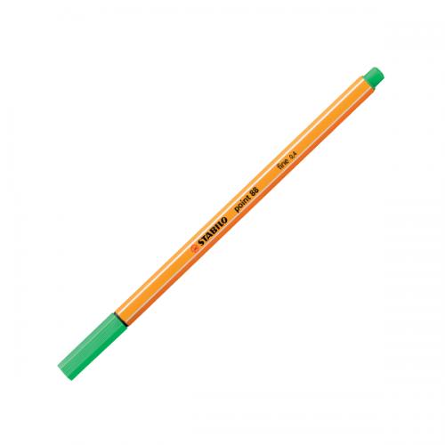 Stabilo Keçe Uçlu İnce Kalem 88 Point 0.4 MM Zümrüt Yeşili 88/16