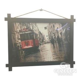 Taksim Tramvay Ahşap Tablo Kod - 000008