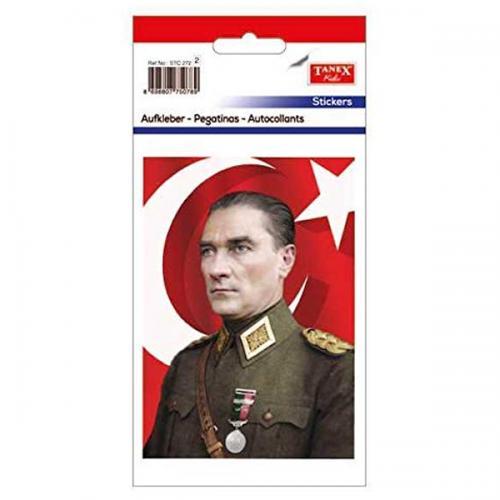 Tanex Etiket Stickers Ata İmza-14 2 Adet STC-272