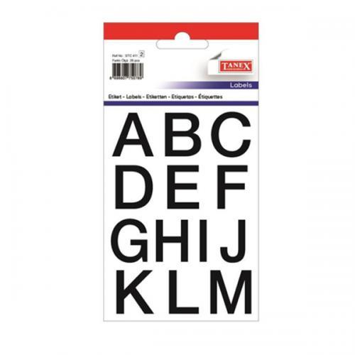 Tanex Etiket Stickers Şeffaf Harf 2 Adet STC-411