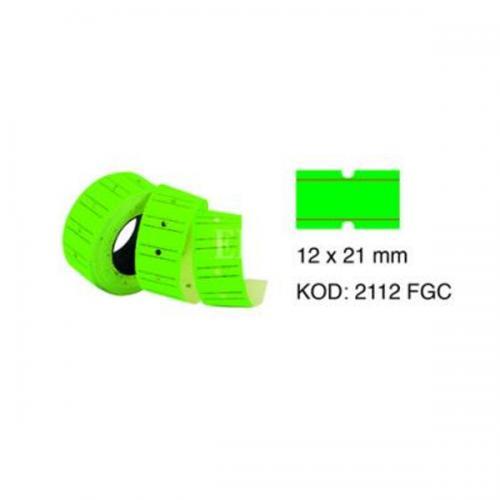 Tanex Fiyat Etiketi Çizgili 12x21 Fosforlu Yeşil