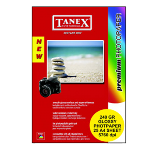 Tanex Fotoğraf Kağıdı 20 YP A4 240 GR
