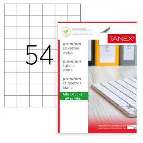 Tanex Lazer Etiket 100 YP 35x33 MM Laser-Copy-Inkjet TW-2054