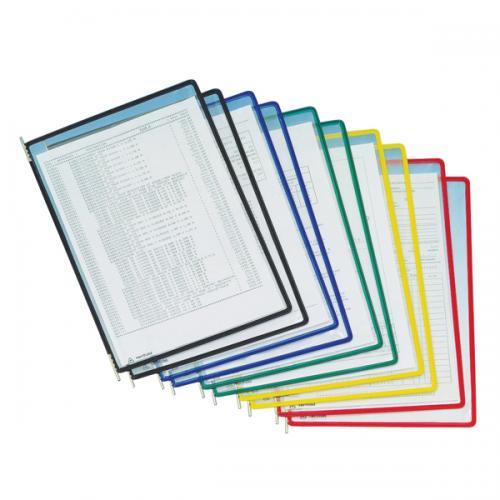 Tarifold Poşet Dosya Mafsallı 10 LU Şeffaf Mavi 11400125