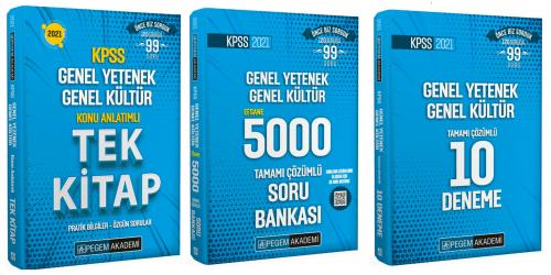 Pegem 2021 KPSS GYGK Konu Anlatımlı Tek Kitap + GYGK 5000 Soru Bankası+ GYGK 10 Deneme 3 Lü Set