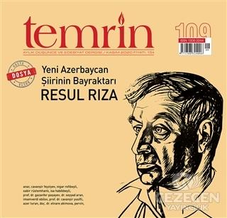 Temrin Aylık Düşünce ve Edebiyat Dergisi Sayı: 109 Kasım 2020