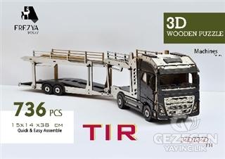 Tır Ahşap 3D Wooden Puzzle