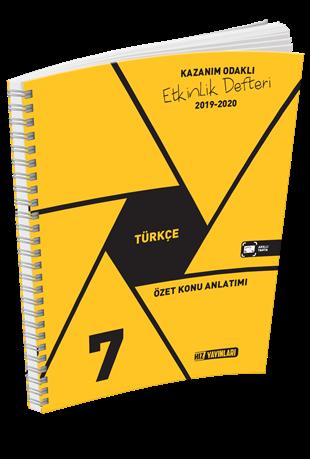 Hız Yayınları 7. Sınıf Türkçe Kazanım Odaklı Etkinlik Defteri Hız Yayınları