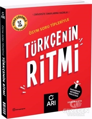 Arı Yayınları 2021 YKS TYT Türkçenin Ritmi Soru Bankası Çözümlü Arı Yayınları