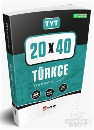 TYT 20x40 Türkçe Deneme Seti Tamamı PDF Çözümlü