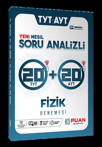 Puan YKS TYT AYT Fizik 42 Deneme Video Çözümlü Puan Yayınları