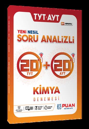 Puan YKS TYT AYT Kimya 42 Deneme Video Çözümlü Puan Yayınları