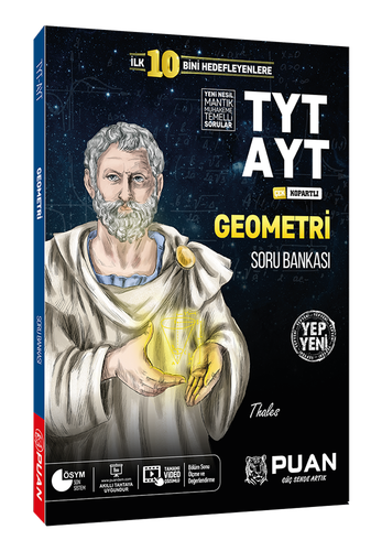 Puan YKS TYT AYT Geometri Zor Soru Bankası Puan Yayınları