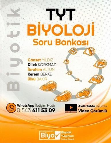 Biyotik Yayınları TYT Biyoloji Biyotik Soru Bankası