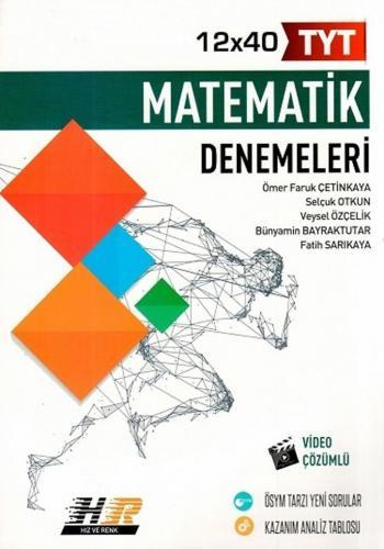 Hız ve Renk Yayınları TYT Matematik 12x40 Denemeleri