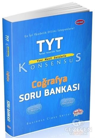 Editör YKS TYT Konsensüs Coğrafya Soru Bankası Editör Yayınları