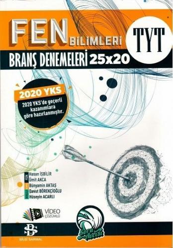 Bilgi Sarmal 2020 YKS TYT Fen Bilimleri 25x20 Branş Denemeleri Video Çözümlü Bilgi Sarmal Yayınları