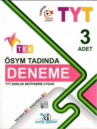 TYT Tek Ösym Tadında 3 Lü Deneme - 2019-20