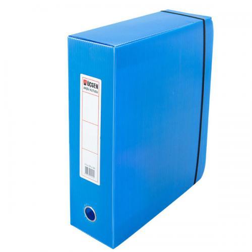 Üçgen Proje Kutusu Plastik Lastikli Battal 29x36x10 Mavi