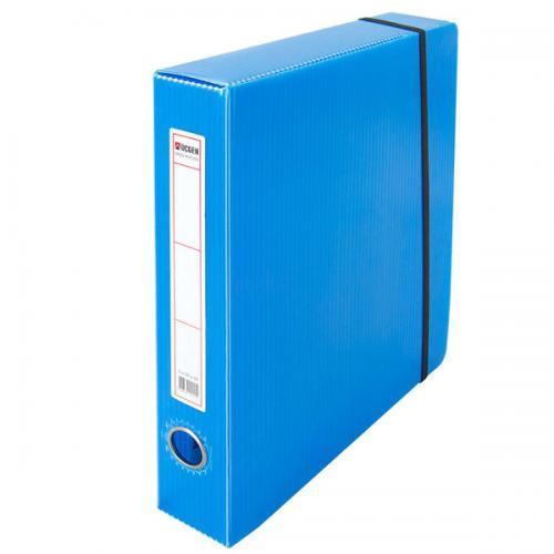 Üçgen Proje Kutusu Plastik Lastikli Dar 24x32x5 Mavi