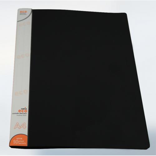 Umix Katalog (Sunum) Dosya Eco 10 LU A4 Siyah U1111E-Sİ