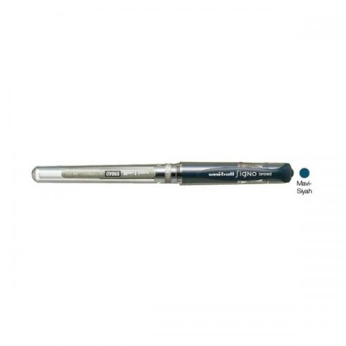 Uni-Ball Roller Kalem Signo Broad Jel Bilye Uç İmza Kalemi 1.0 MM Mavi Siyah UM-153