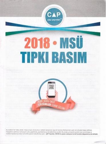 Çap Yayınları 2018 MSÜ Tıpkı Basım Çap Yayınları