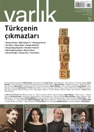 Varlık Edebiyat Ve Kültür Dergisi Sayı: 1348 Ocak 2020