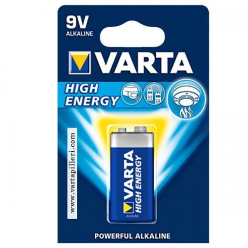 Varta Alkalin 9 Volt Pil High Energy 9 V