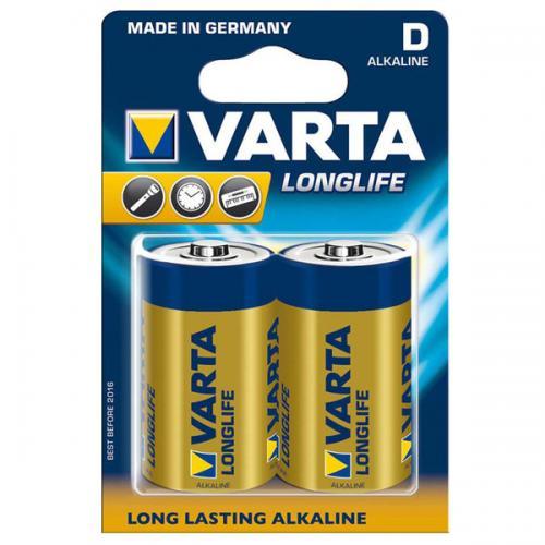 Varta Alkalin Büyük Boy Pil (D) Longlife Extra 2 Lİ