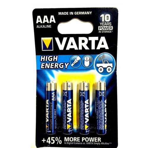 Varta Alkalin İnce Kalem Pil (AAA) High Energy 4 LÜ