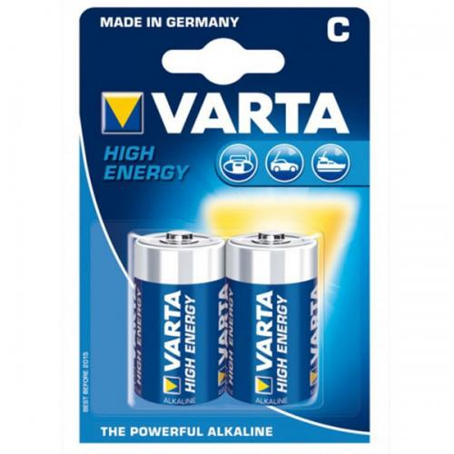 Varta Alkalin Orta Boy Pil C High Energy 2 Lİ