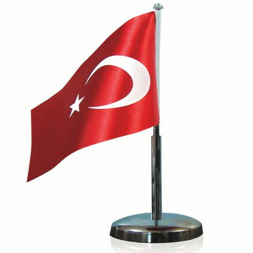 Vatan Bayrak Direği Tekli Nikel VT301