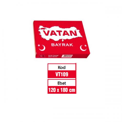 Vatan Bez Bayrak Türk %100 Polyester 120x180 VT109