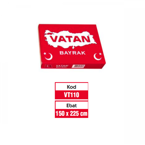 Vatan Bez Bayrak Türk %100 Polyester 150x225  VT110