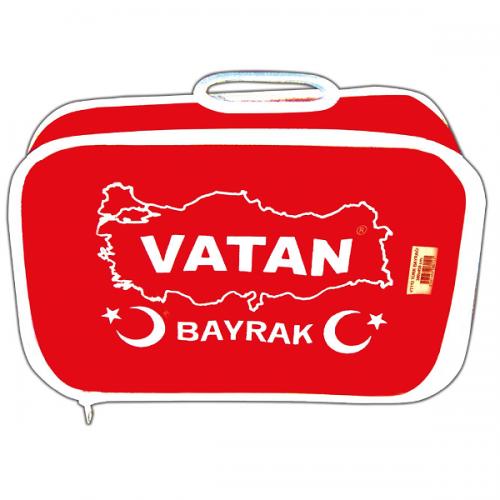 Vatan Masa Bayrağı Türk %100 Polyester 30x45 VT102